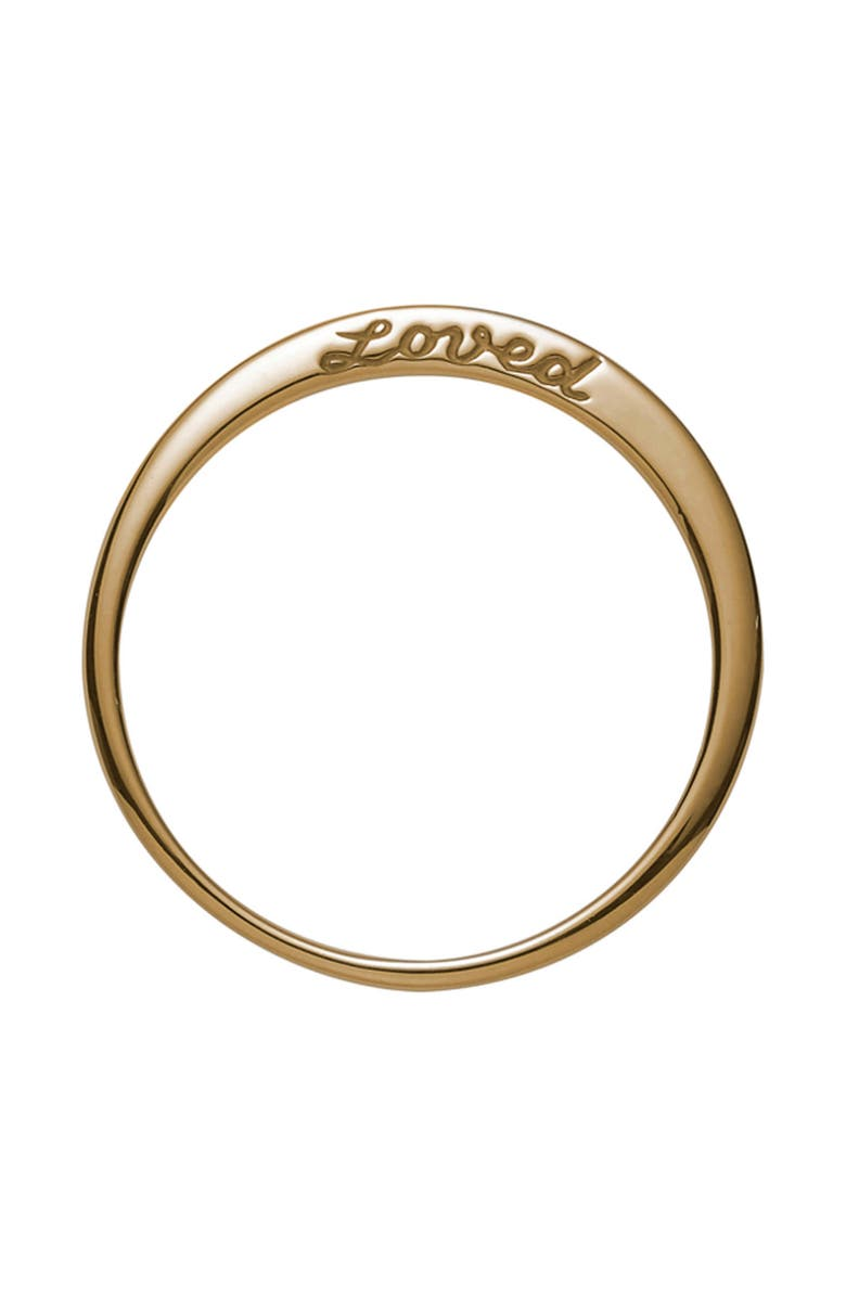 NORA KOGAN Loved Side Script Ring, Main, color, YELLOW GOLD