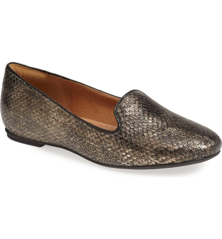 CLARKS<SUP>®</SUP> 'Valley' Calf Hair Flat, Main, color, 042