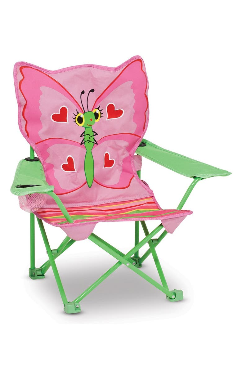 MELISSA AND DOUG Bella Butterfly Chair, Main, color, PINK