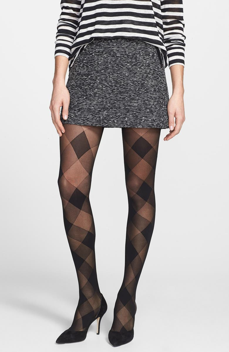 NORDSTROM 'Perfect Plaid' Tights, Main, color, 001
