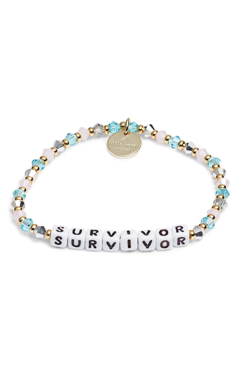 LITTLE WORDS PROJECT Survivor Beaded Stretch Bracelet, Main, color, 400