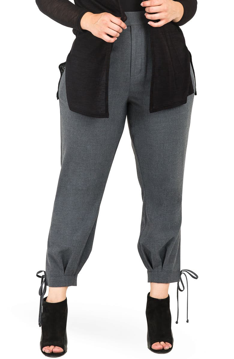STANDARDS & PRACTICES Robie Suiting Skinny Trousers, Main, color, CHARCOAL