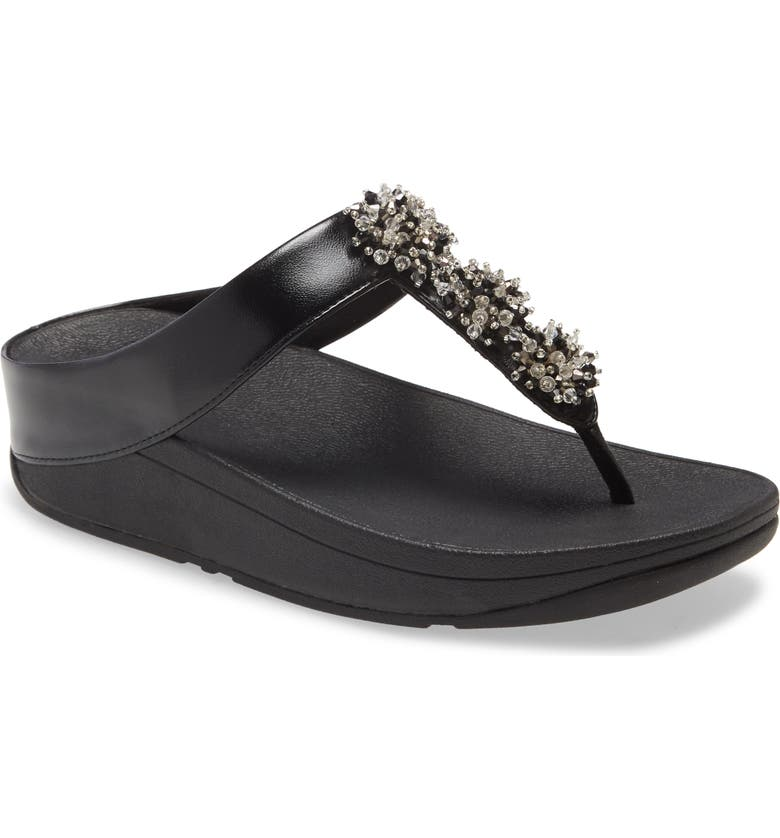 FITFLOP Galaxy Toe Wedge Flip Flop, Main, color, 001