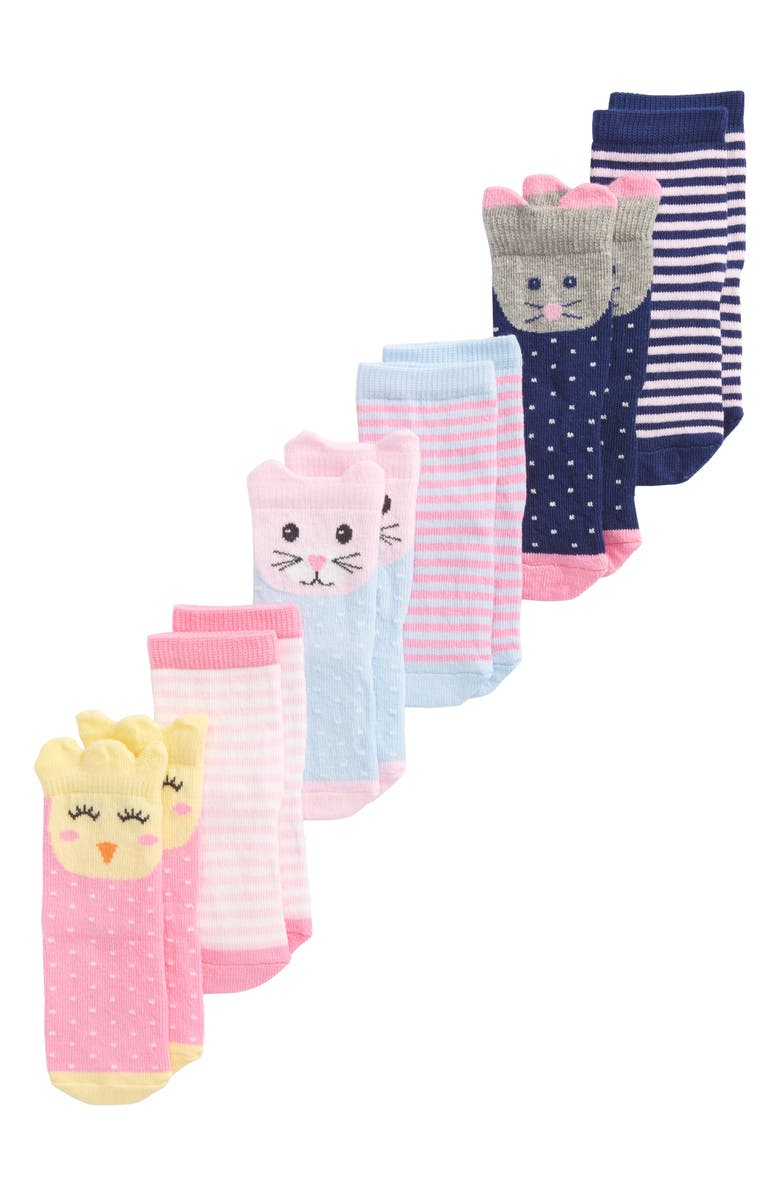 TUCKER + TATE 6-Pack Animal Socks, Main, color, 960