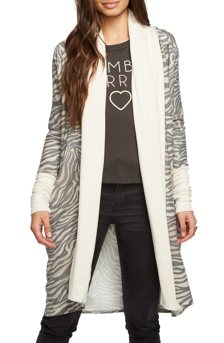 CHASER Cozy Knit Duster Cardigan, Main, color, 001