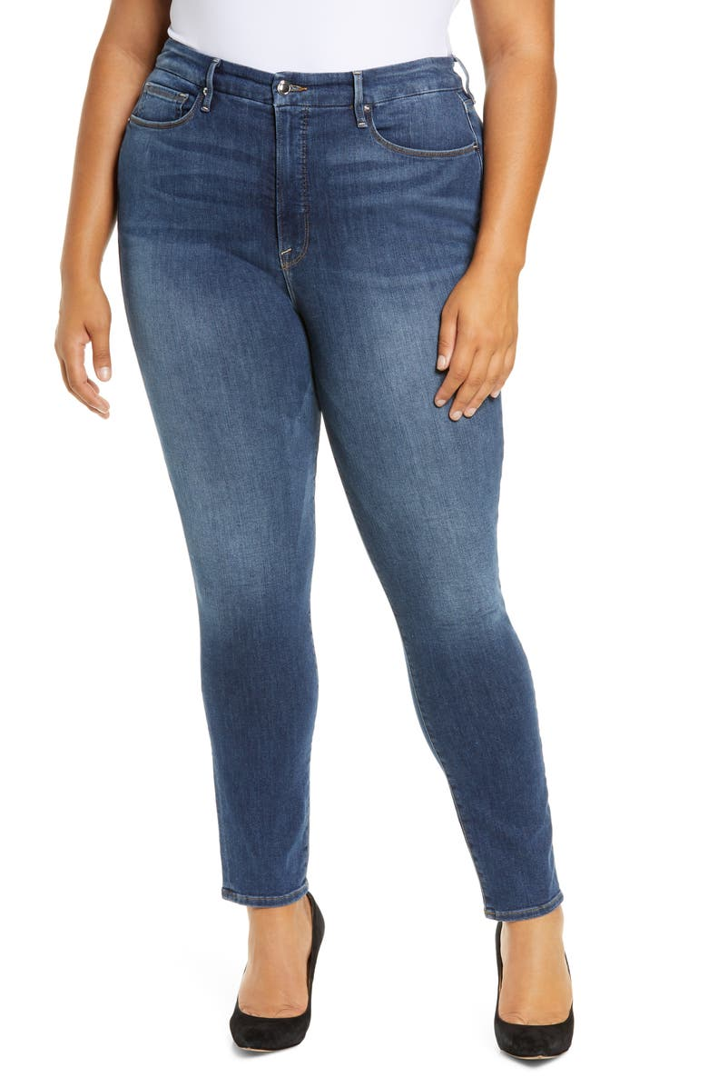 GOOD AMERICAN Good Legs High Rise Skinny Jeans, Main, color, 408