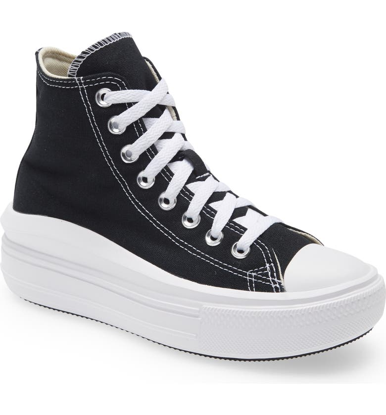 CONVERSE Chuck Taylor<sup>®</sup> All Star<sup>®</sup> Move High Top Platform Sneaker, Main, color, BLACK/ NATURAL IVORY/ WHITE