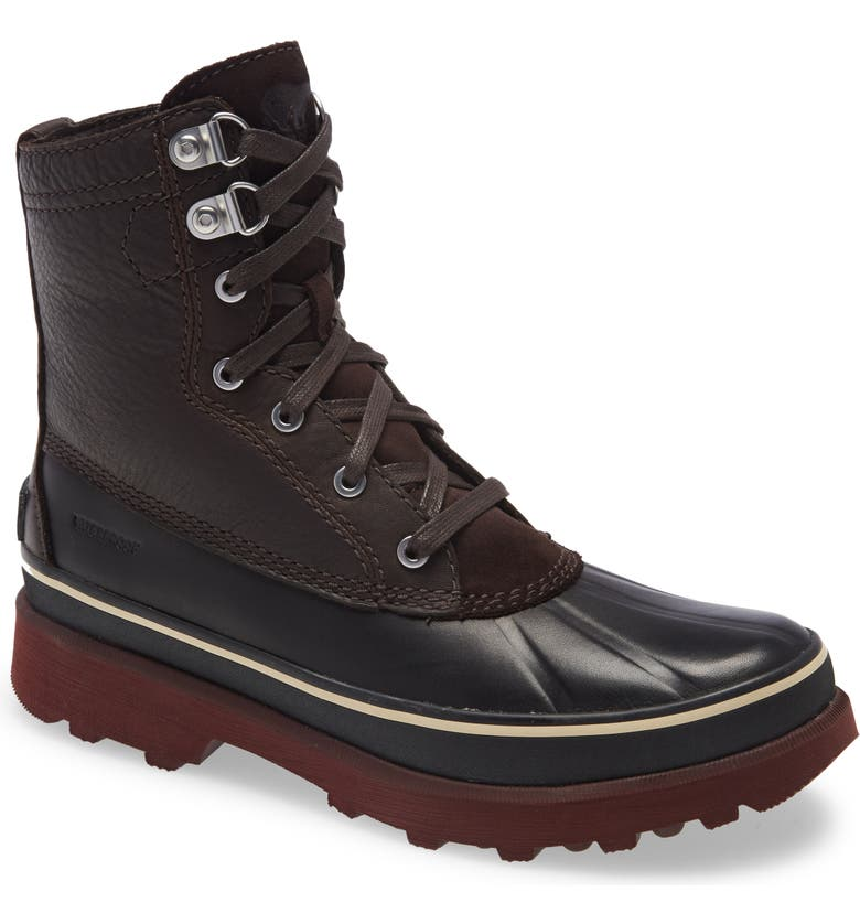 SOREL Caribou Genuine Shearling Lined Waterproof Duck Boot, Main, color, 205
