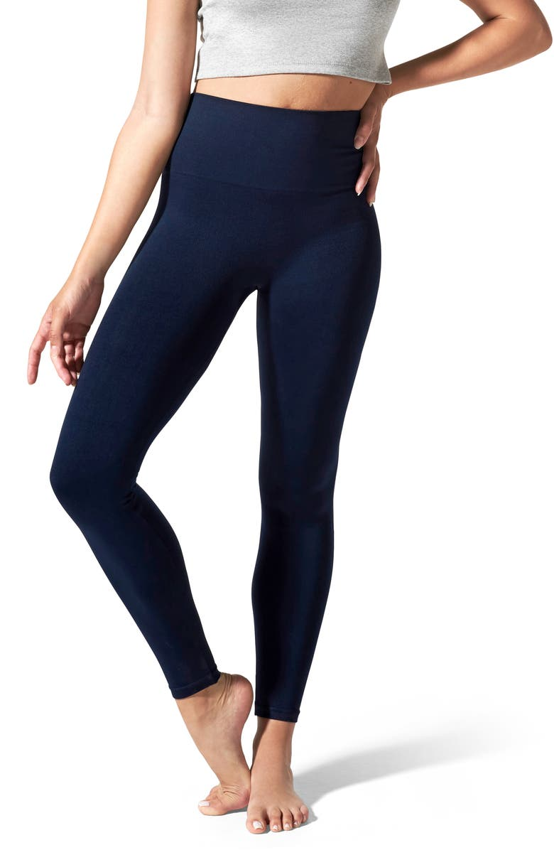 BLANQI Everyday Hipster Postpartum Support Leggings, Main, color, NAVY