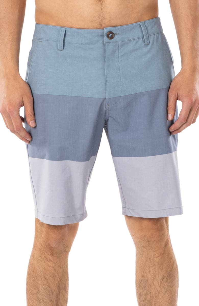 RIP CURL Boardwalk Jackson Hybrid Walking Shorts, Main, color, MID BLUE