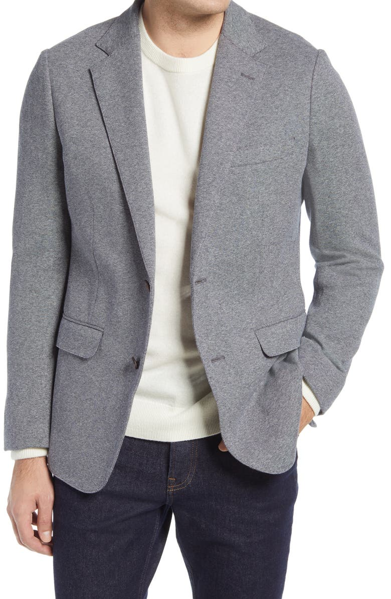 BONOBOS Jetsetter Slim Fit Knit Cotton Sport Coat, Main, color, MEDIUM GREY