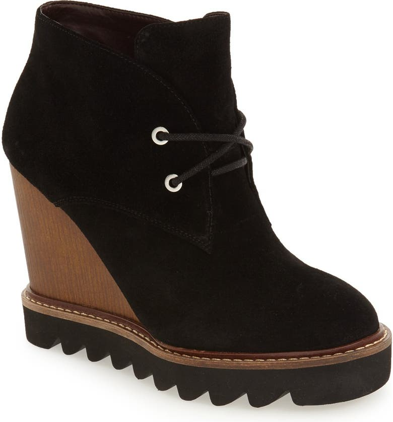 BCBGENERATION 'Nariska' Wedge Bootie, Main, color, 001