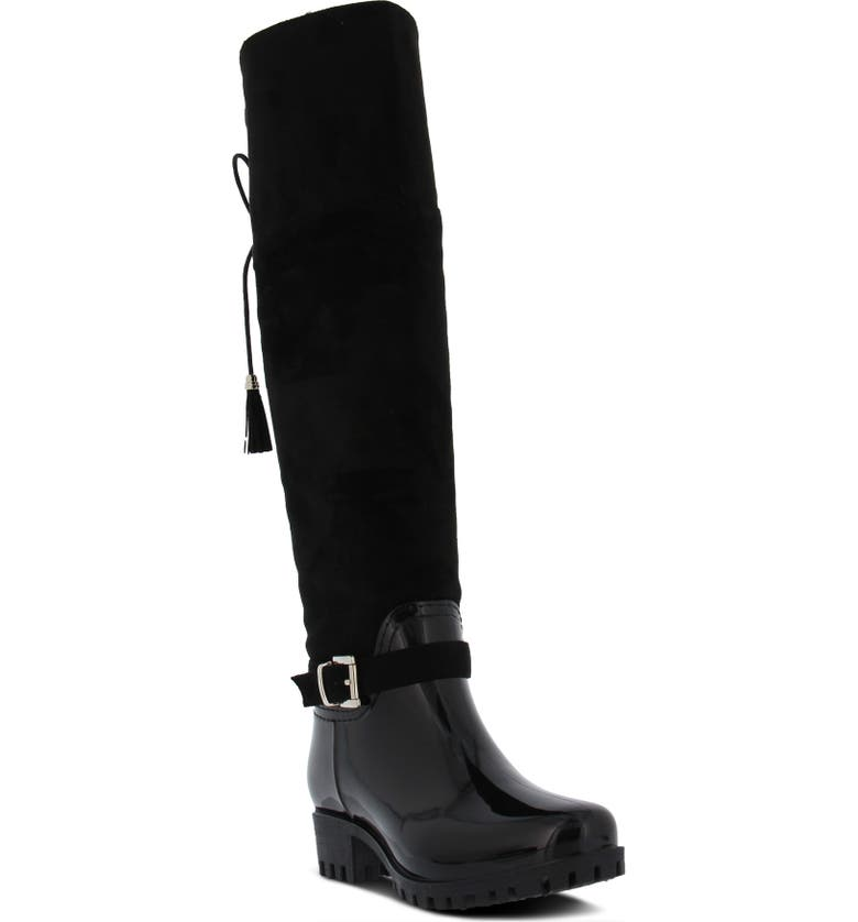 SPRING STEP Mattie Over the Knee Waterproof Boot, Main, color, 001