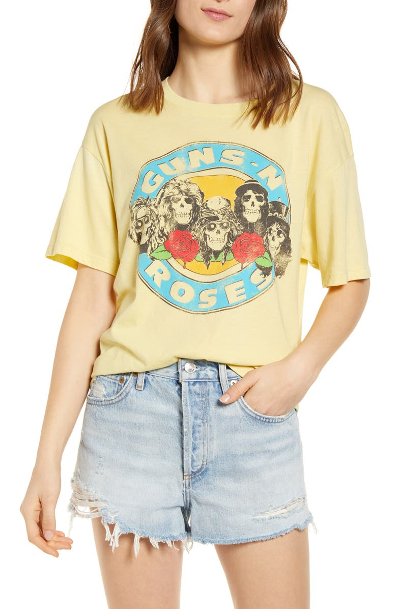 DAYDREAMER Guns N' Roses Welcome to the Jungle Graphic Tee, Main, color, 740