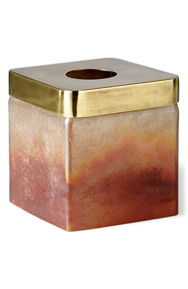 MICHAEL ARAM Torched Tissue Box Cover, Main, color, AMBER