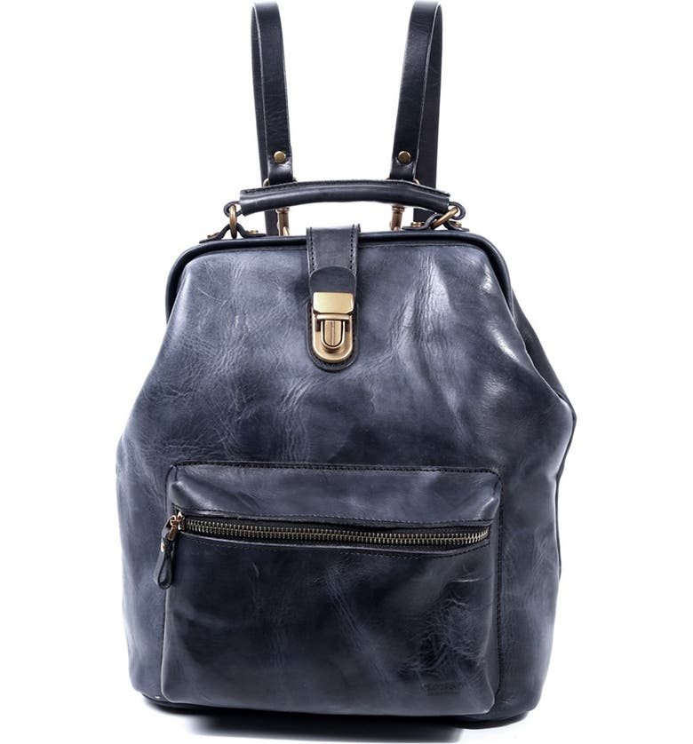 OLD TREND Leather Convertible Doctor Backpack, Main, color, BLACK