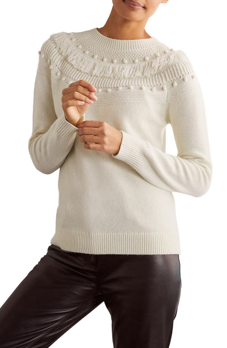 BODEN Normanton Textured Sweater, Main, color, 902