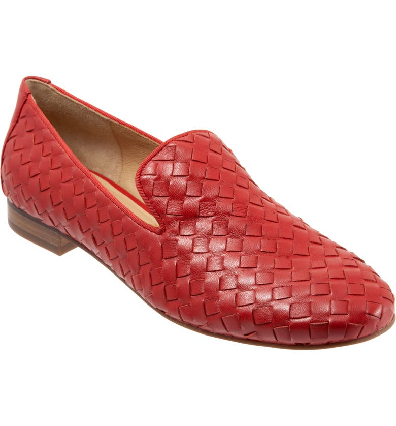 TROTTERS Gracie Loafer, Main, color, RED LEATHER