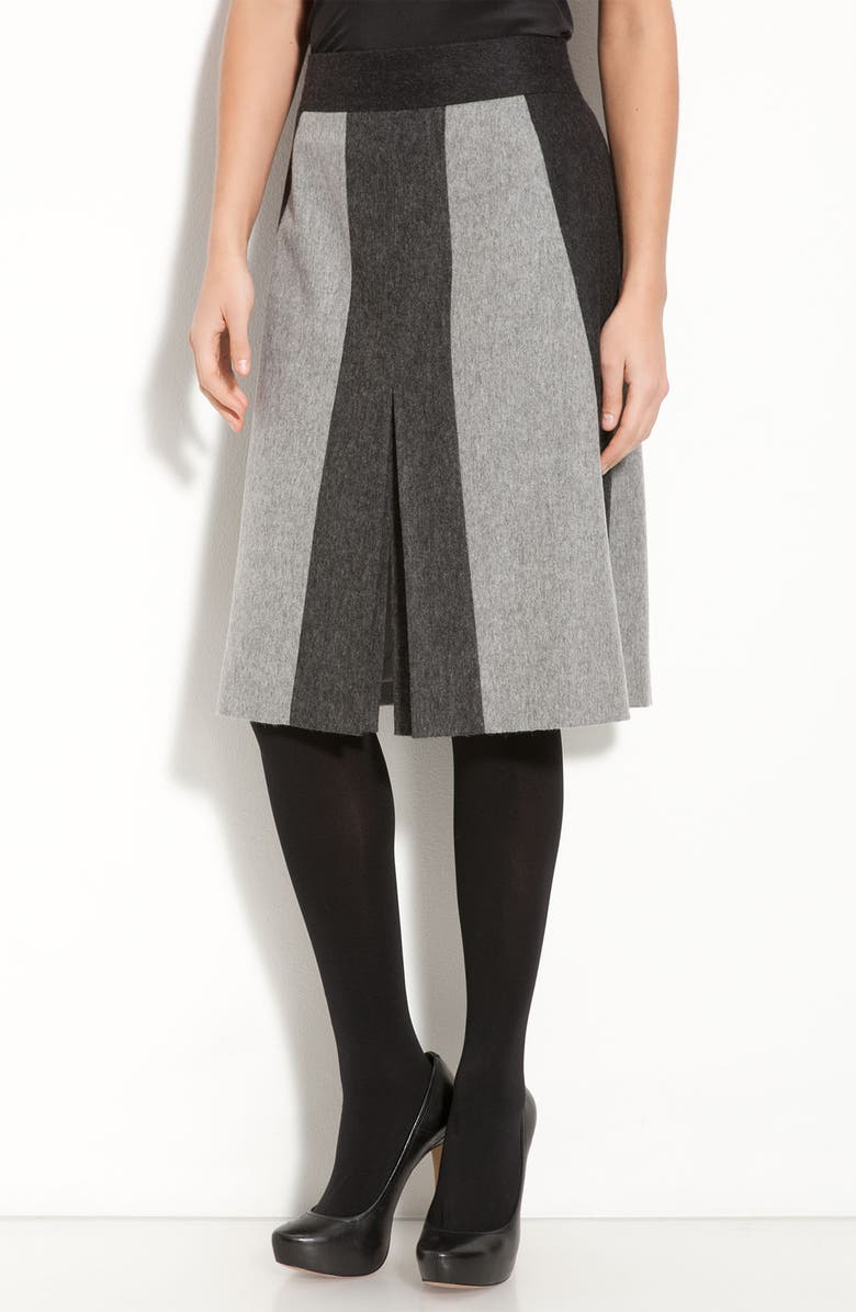 CLASSIQUES ENTIER<SUP>®</SUP> 'Isadora' Wool Blend Paneled Skirt, Main, color, 020