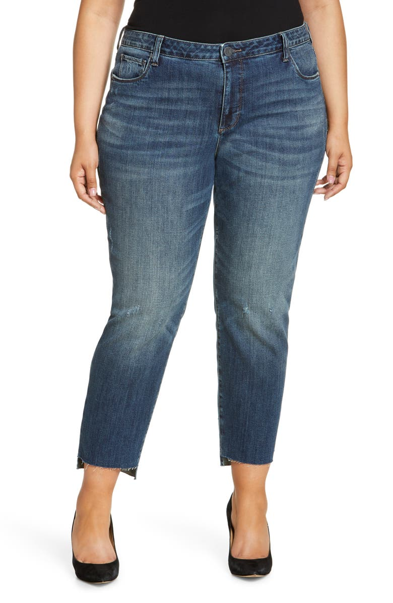 KUT FROM THE KLOTH Reese Step Hem Ankle Straight Leg Jeans, Main, color, GLORY