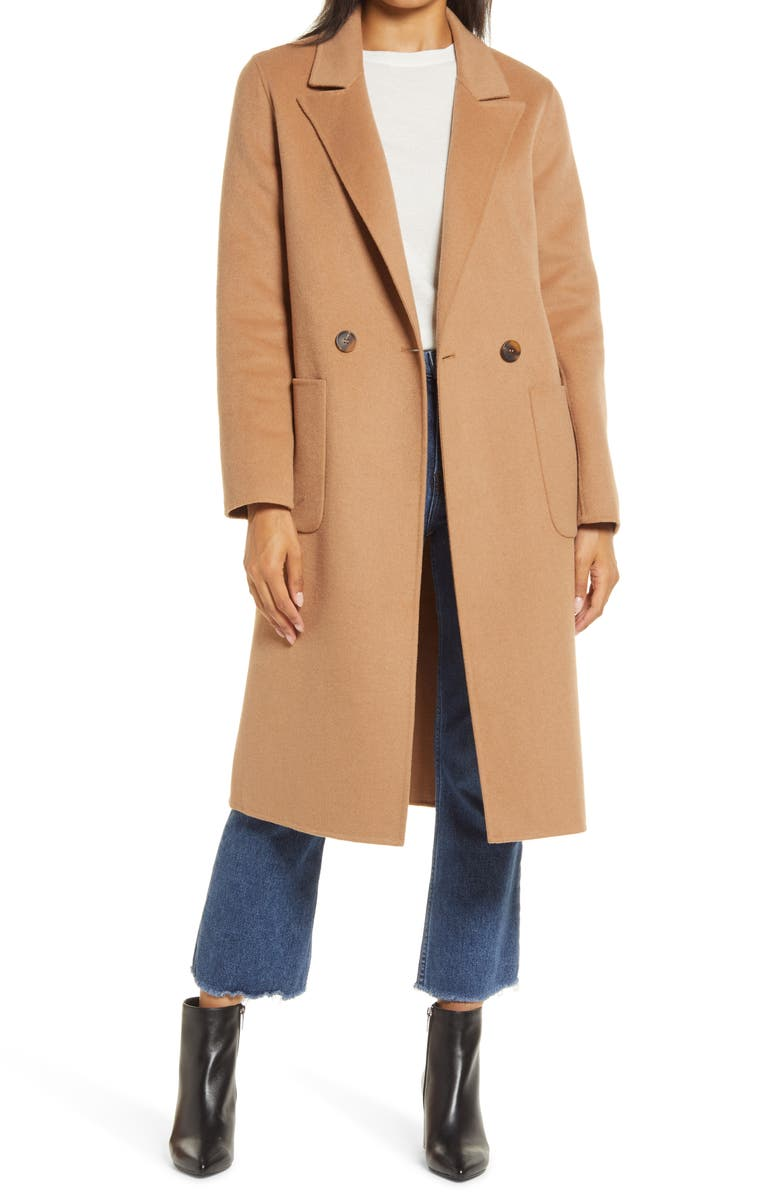 HALOGEN<SUP>®</SUP> Double Face Wool Coat, Main, color, 230
