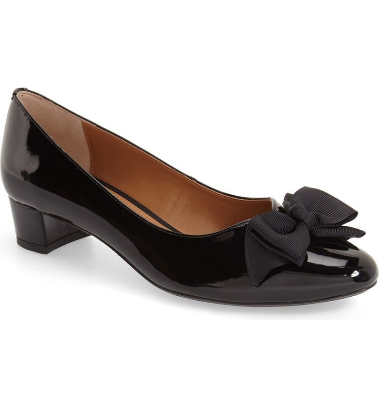 J. RENEÉ 'Cameo' Bow Pump, Main, color, BLACK FAUX PATENT