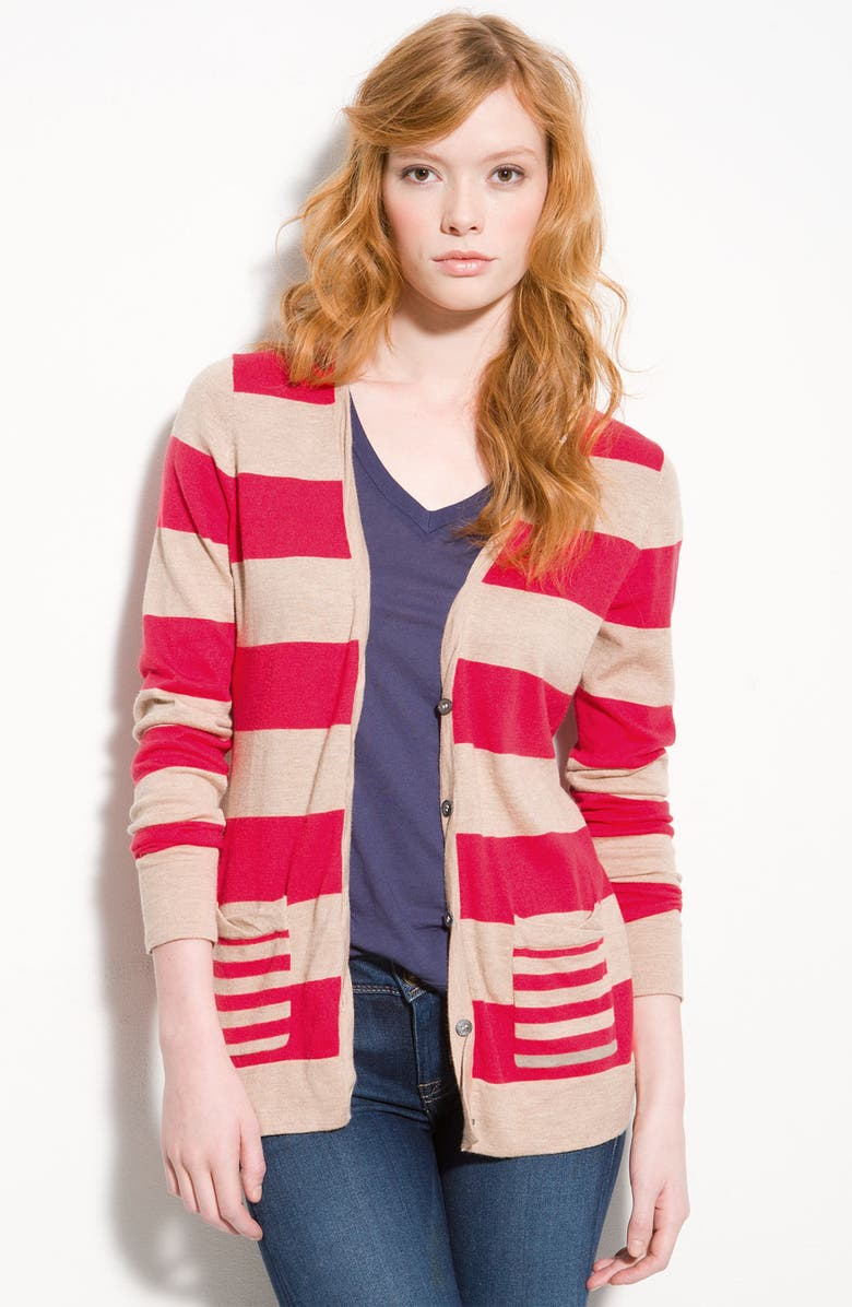 REMAIN Twisted Trim Cardigan, Main, color, 300