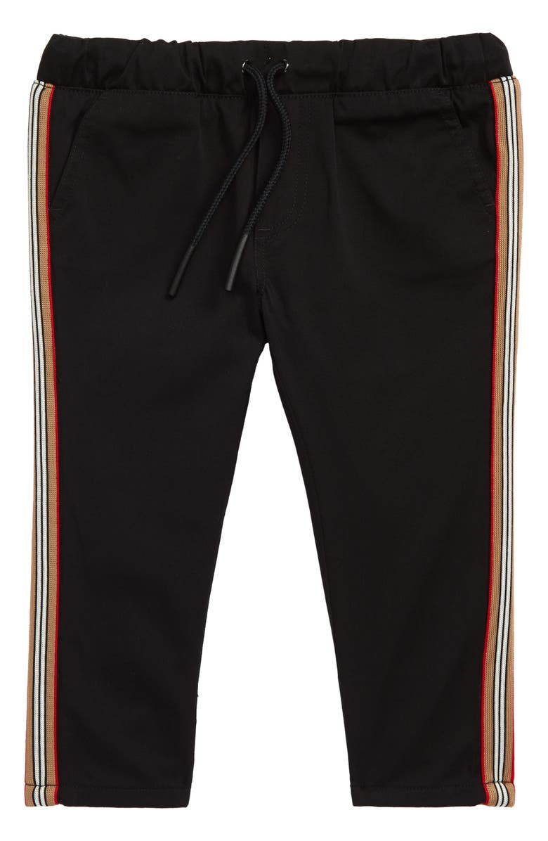BURBERRY Curran Icon Woven Pants, Main, color, 001