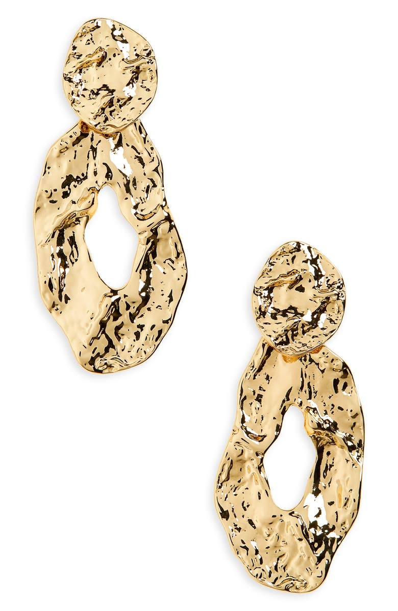 MADEWELL Elemental Statement Earrings, Main, color, VINTAGE GOLD