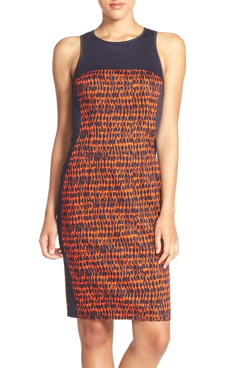 FRENCH CONNECTION 'Canyon Sands' Sateen Sheath Dress, Main, color, 604