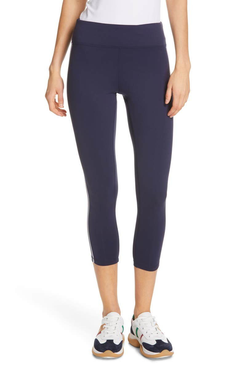 TORY SPORT BY TORY BURCH Tory Sport Retro Stripe 7/8 Leggings, Main, color, 405