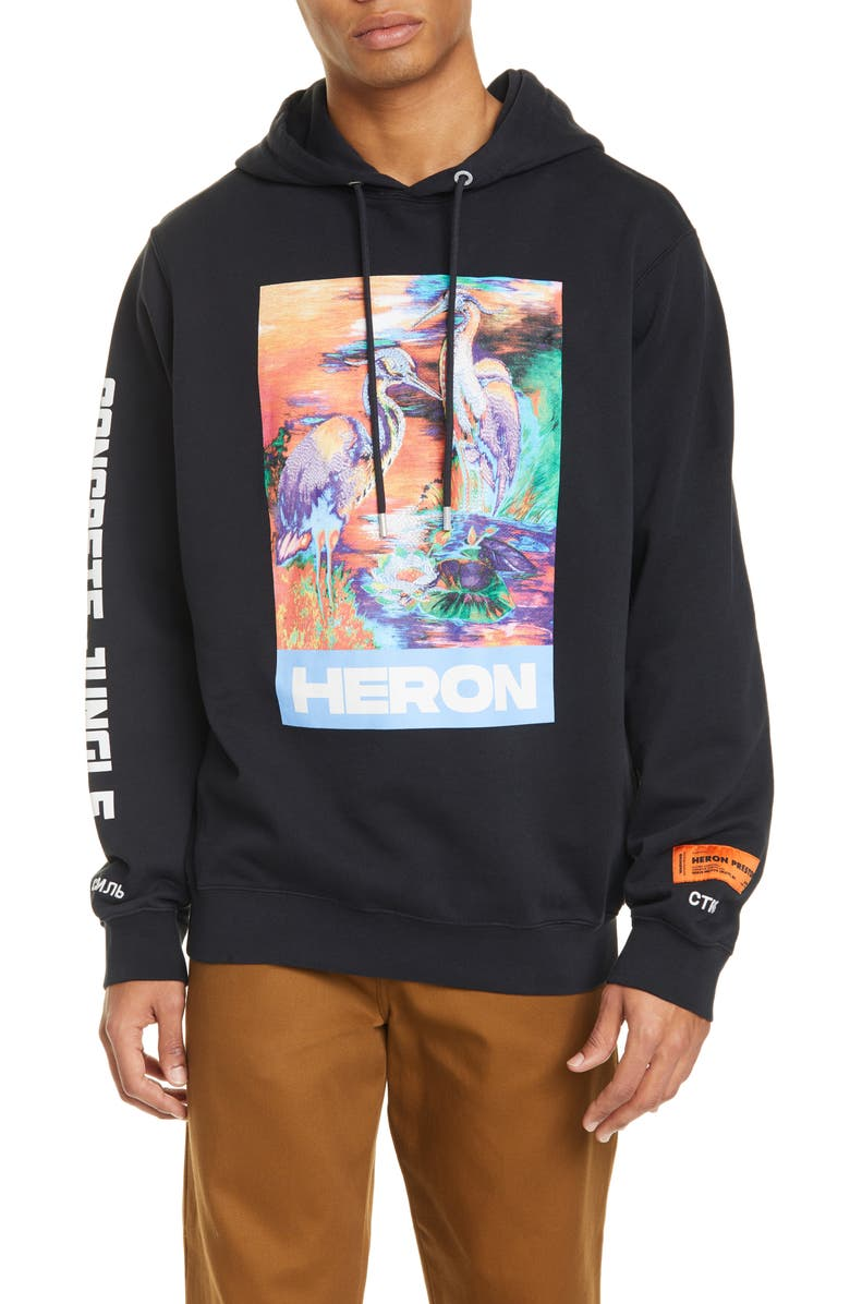 HERON PRESTON Graphic Hoodie, Main, color, 001