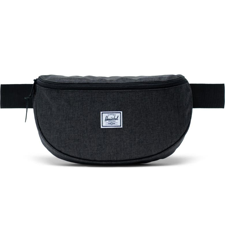 HERSCHEL SUPPLY CO. Sixteen Belt Bag, Main, color, BLACK CROSSHATCH