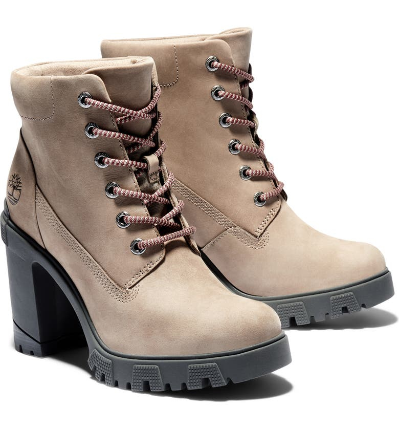 TIMBERLAND Lana Water Resistant Lace-Up Boot, Main, color, TAUPE NUBUCK LEATHER