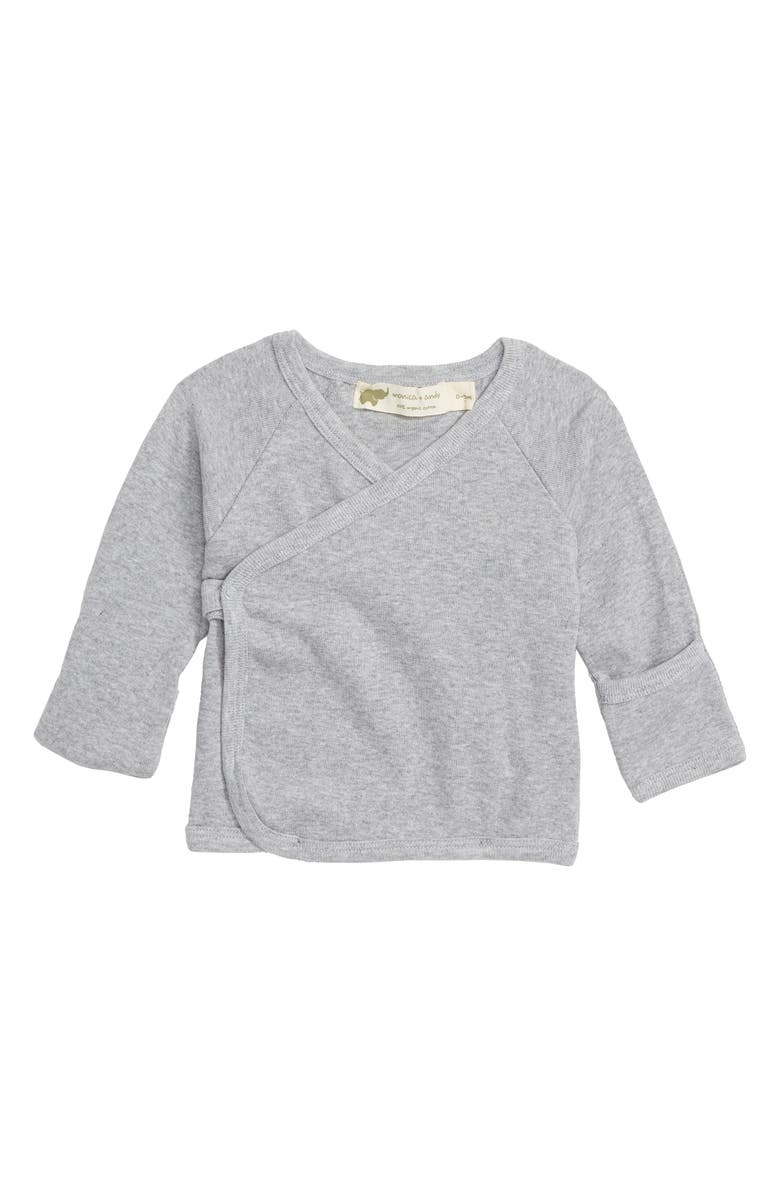 MONICA + ANDY Hello Baby Organic Cotton Top, Main, color, 020