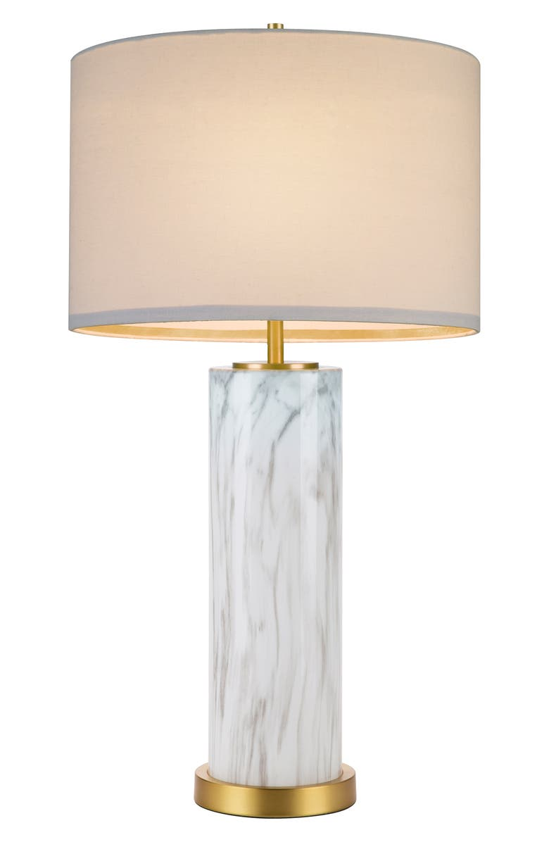 CUPCAKES AND CASHMERE Marble Column Table Lamp, Main, color, 100