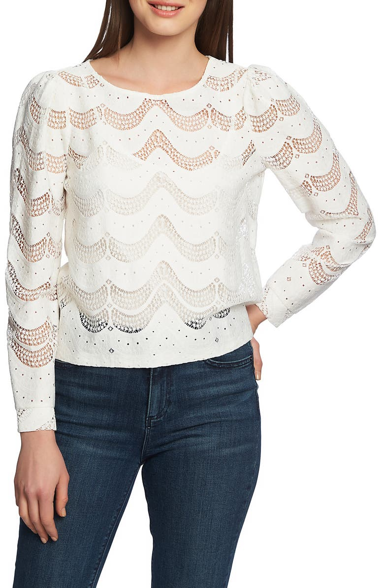 1.STATE Scalloped Lace Blouse, Main, color, 104