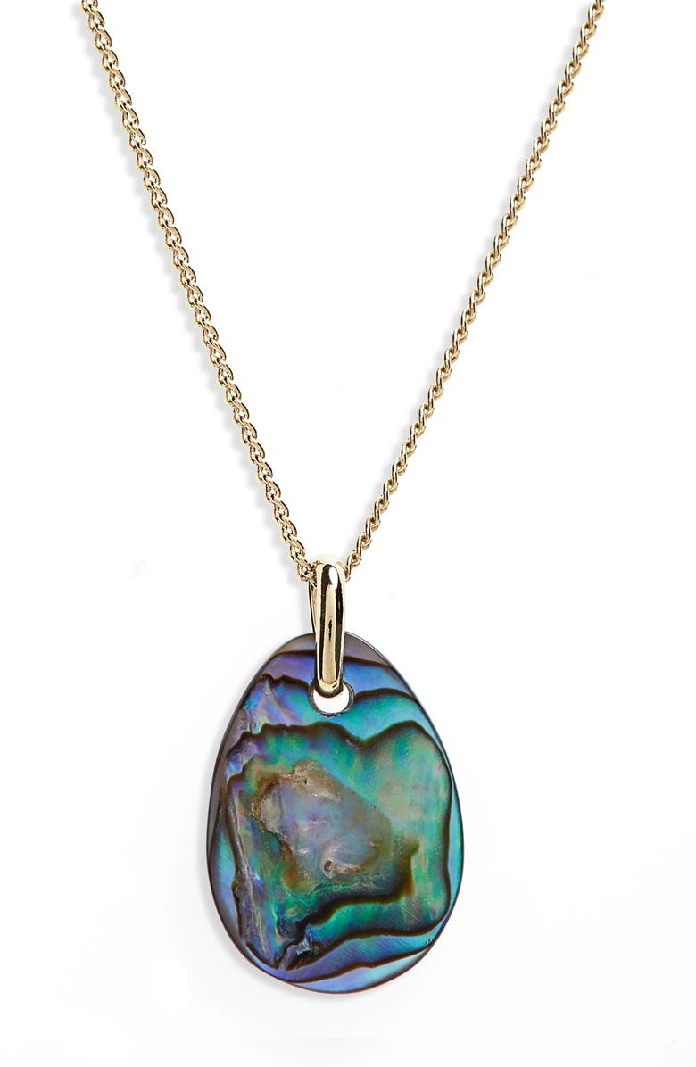 ISABEL MARANT Shell Pendant Necklace, Main, color, MULTICOLOR