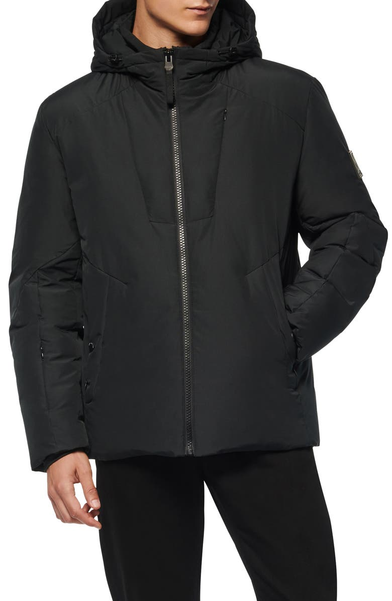 MARC NEW YORK Spalding Water Resistant Down & Feather Fill Parka, Main, color, Black
