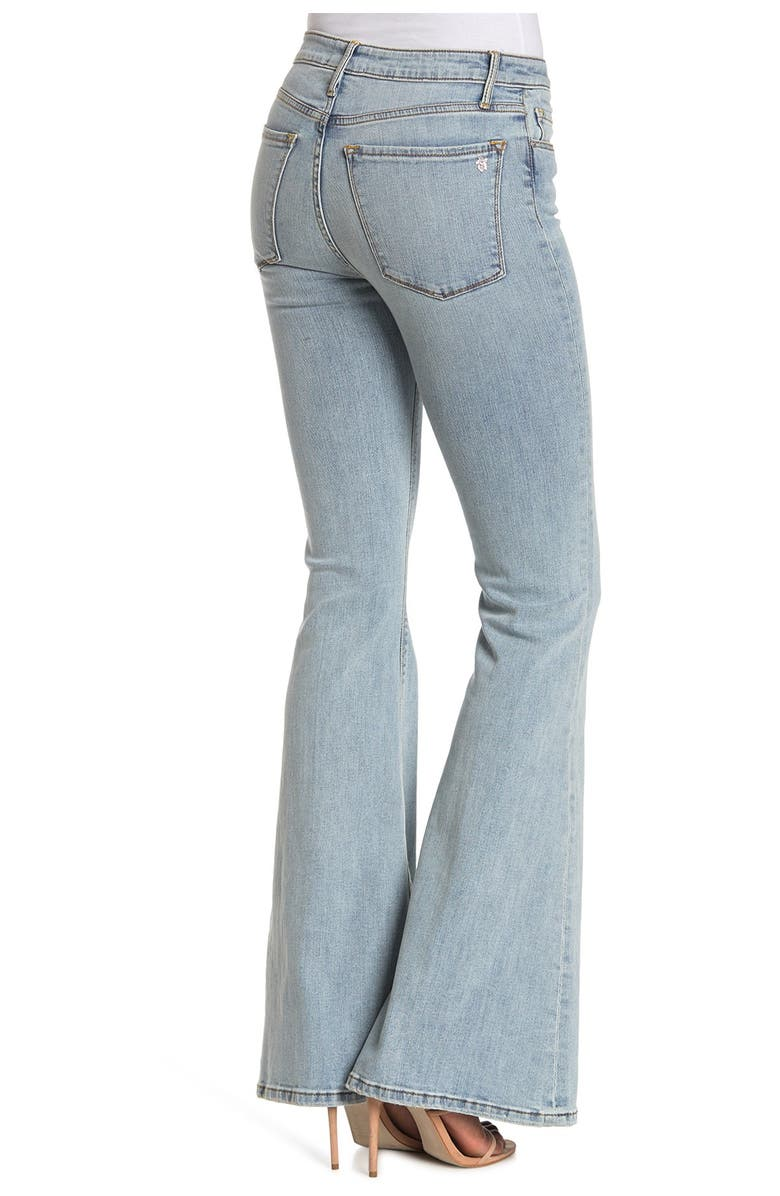 BLACK ORCHID Grace Super Flare Jeans, Main, color, THIS IS HOW WE DO IT