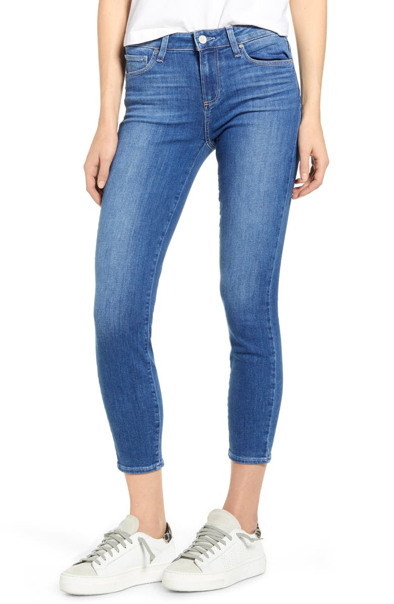 PAIGE Verdugo Crop Skinny Jeans, Main, color, FOREVER