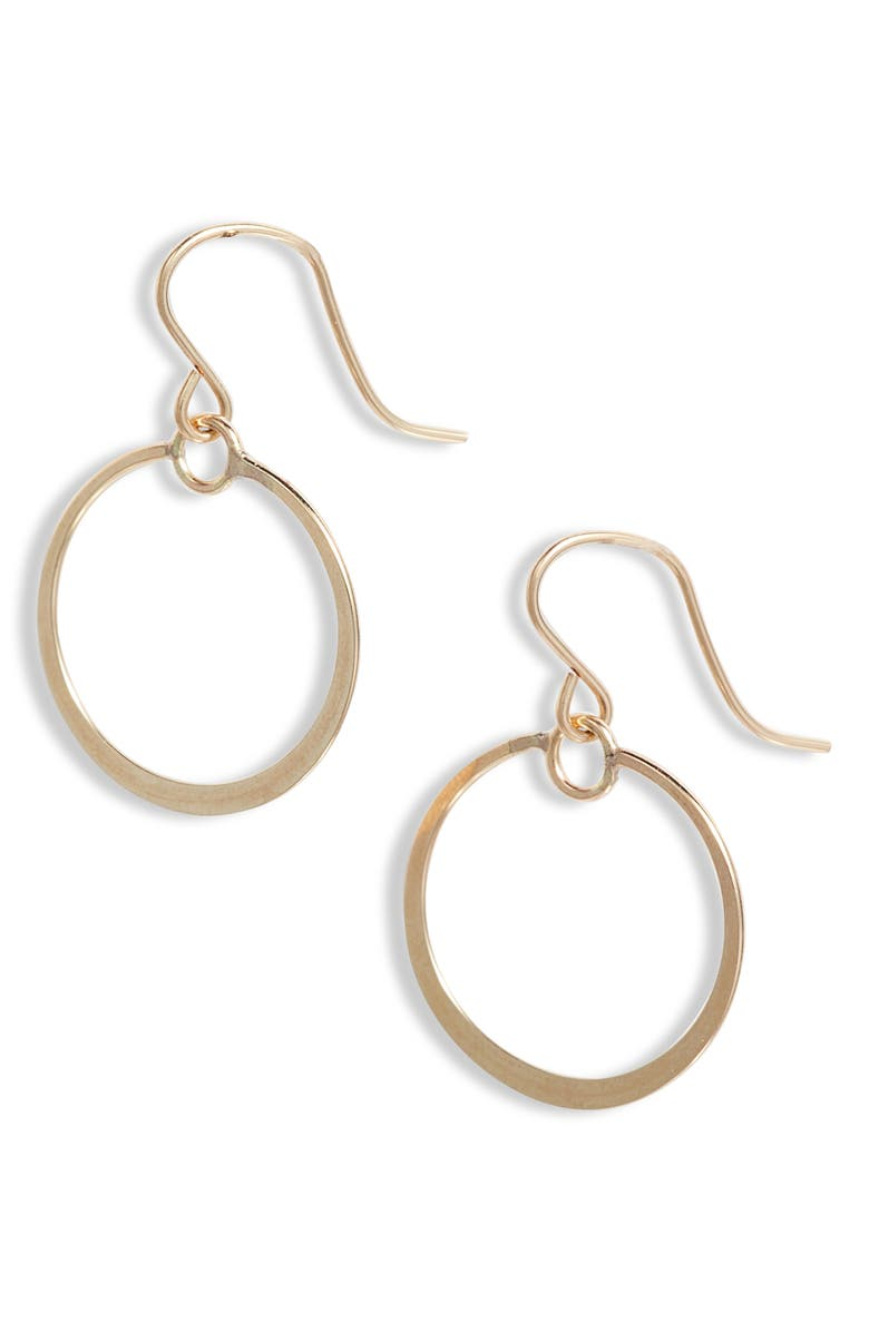 NASHELLE Muse Circle Drop Earrings, Main, color, Gold
