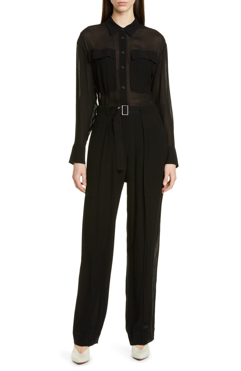 JASON WU COLLECTION Jason Wu Crinkle Jumpsuit, Main, color, 001