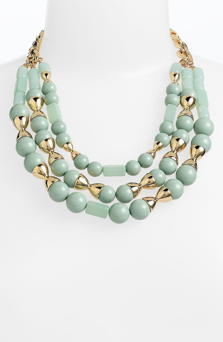 TORY BURCH 'Perez' Multistrand Statement Necklace, Main, color, 335