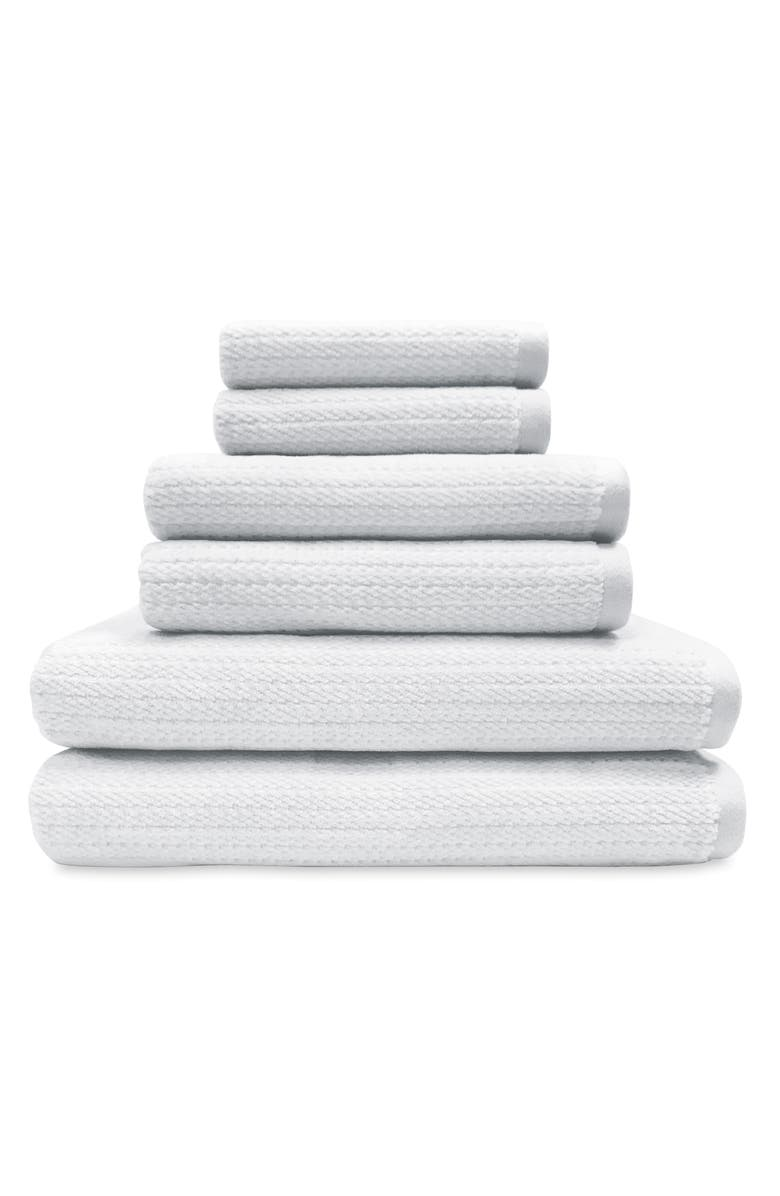PERI HOME Mingled Stripe Set of 6 Towels, Main, color, 100
