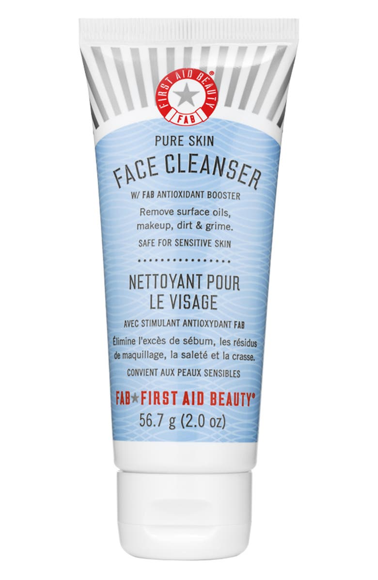 FIRST AID BEAUTY Pure Skin Face Cleanser, Main, color, NO COLOR