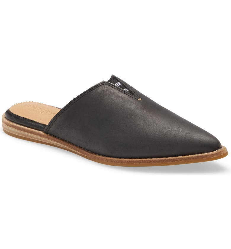 SPERRY Saybrook Mule, Main, color, BLACK LEATHER