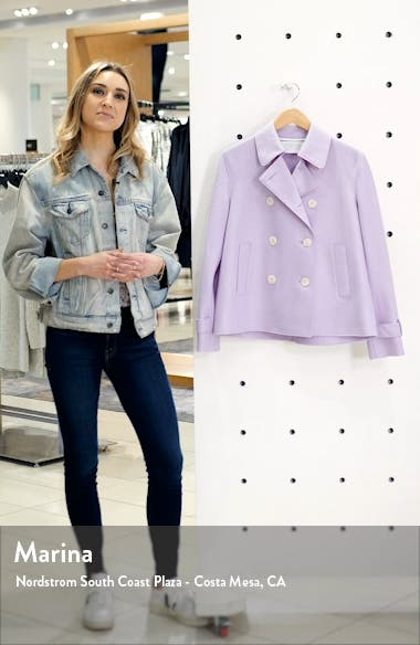 Pressed Wool Crop Trench Coat, sales video thumbnail