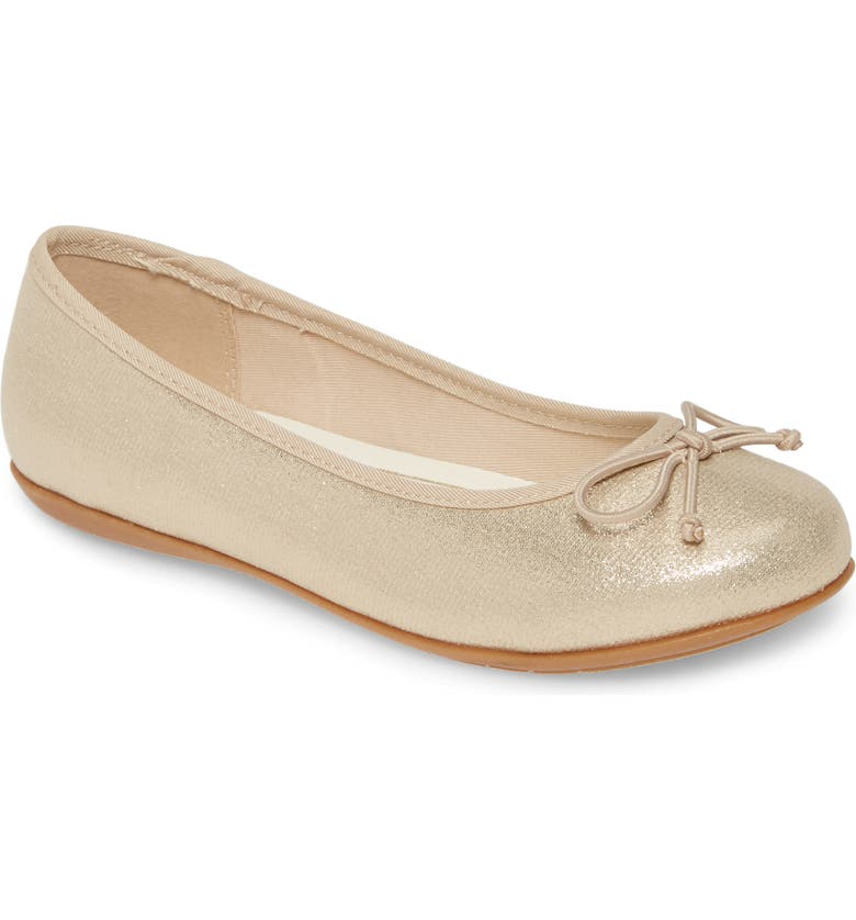 1901 Ballet Flat, Main, color, GOLD SHIMMER FABRIC