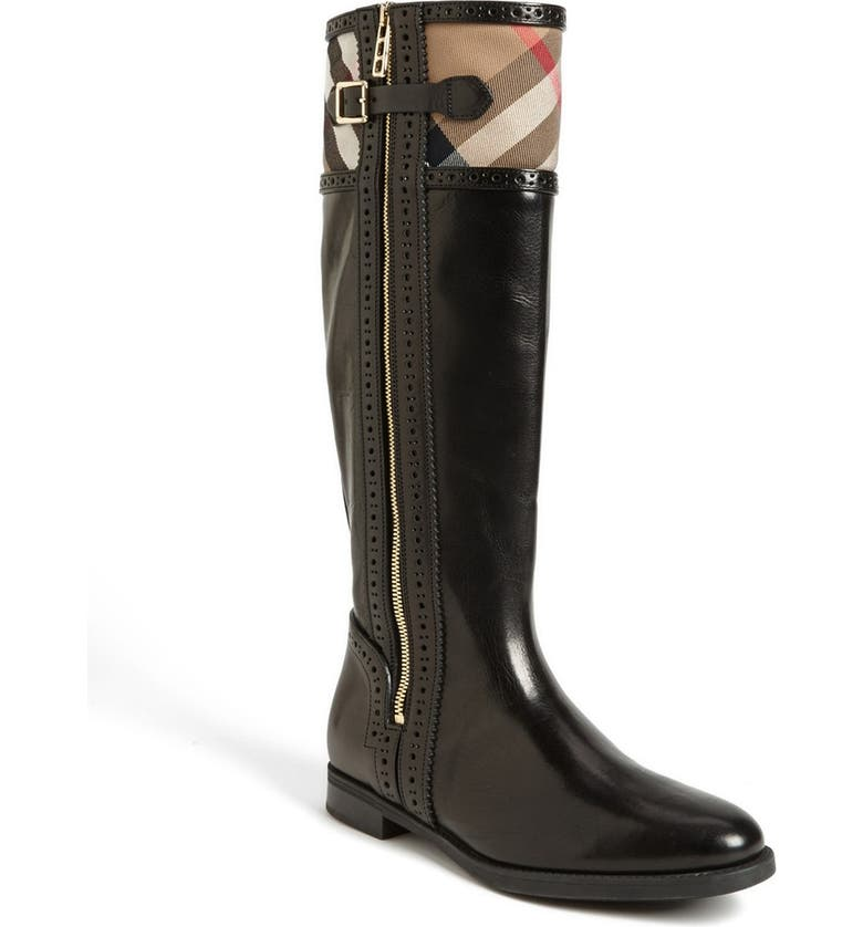 BURBERRY 'Colville' Tall Boot, Main, color, 010